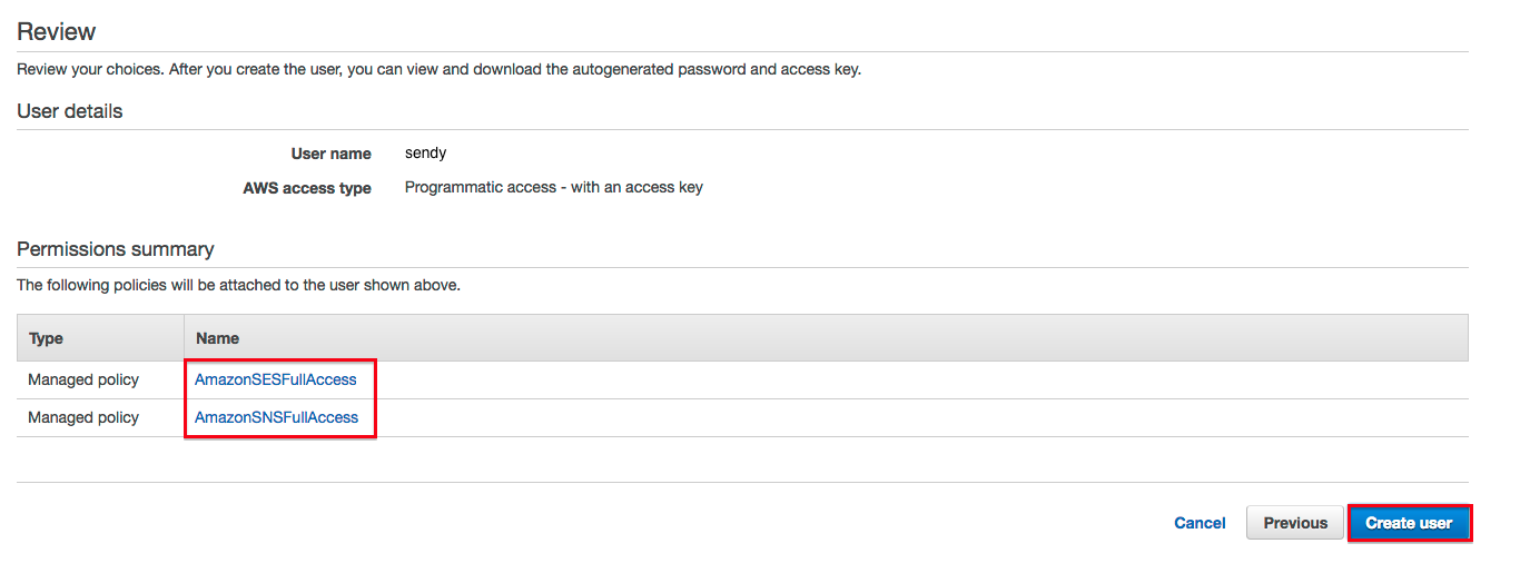 Creating AWS SES Access Keys For Sendy   Colcol